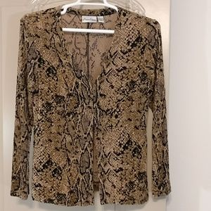 Private edition by Chico's animal print jacket
